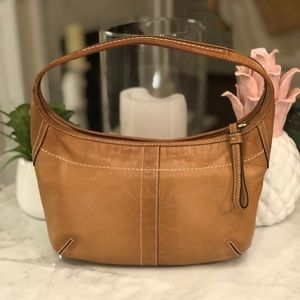Coach Ergo Smooth Tan Leather Hobo Good Cond. 😎